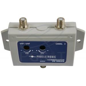 Combinador de Sinais VHF/UHF Ch4