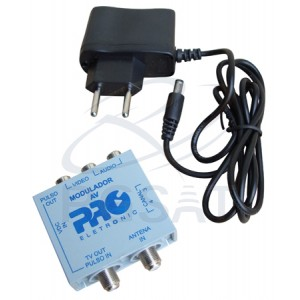 Modulador A/V Mini Canal 3/4 - Proeletronic