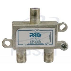 Diplexer UHF-VHF + Satélite com Pas. Dc