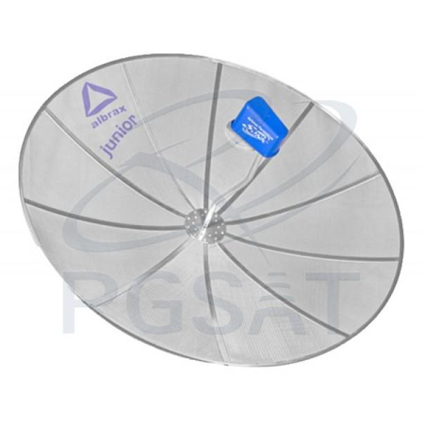 Antenas Parabólicas Refletor Telesonic Junior 1,5m (c/ 1 Refletor, 1 LNBF Mono, 1 Receptor e 1 Tubo)