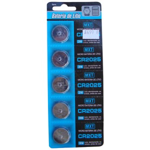 Bateria  2025 Cartela com 5 pçs