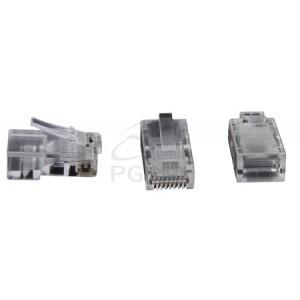 Conector Modular RJ 45  8X8 Pacote com 100