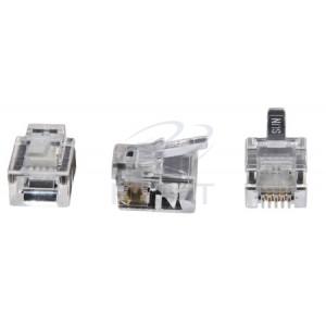 Conector RJ 11 Pacote com 25 ou 100 pçs