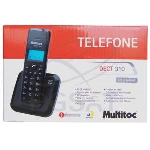 Telefone S/ Fio Dect 310 Multitoc