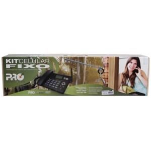Kit Telefone Celular Rural QuadBand 15DB Dual Chip Prock-4000/02